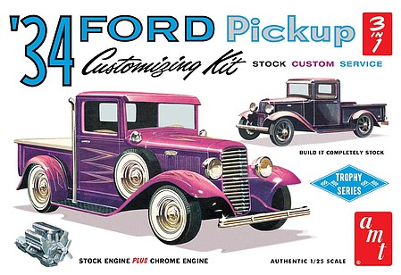 AMT 1934 Ford Pickup Plastic Model Truck Kit 1/25 Scale #1120
