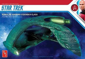 AMT Star Trek Romulan Warbird Battle Cruiser Science Fiction Plastic Model Kit 1/3200 #1125