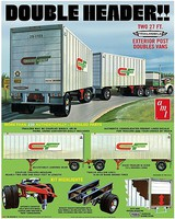 AMT 1/25 Tandem Van Trailers, Double Header