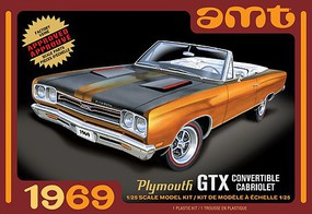 AMT 1969 Plymouth GTX Convertible 2T Plastic Model Car Kit 1/25 Scale #1137