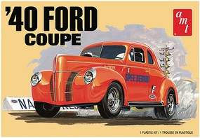 AMT 1940 Ford Coupe 2T Plastic Model Car Kit 1/25 Scale #1141m