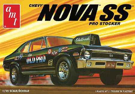 AMT 1972 Chevy Nova SS Old Pro 2T Plastic Model Car Kit 1/25 Scale #1142