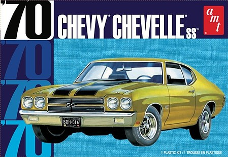 AMT 1970 Chevy Chevelle 22 2T Plastic Model Car Kit 1/25 Scale #1143m