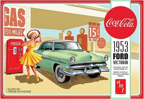 AMT 1953 Ford Victoria Hardtop with Coke Machine 2T Plastic Model Car Kit 1/25 Scale #1146