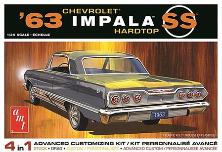 AMT 1963 Chevy Impala SS 2T Plastic Model Car Kit 1/25 Scale #1149