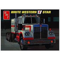 AMT White Western Star Semi Tractor Plastic Model Truck Kit 1/25 Scale #724