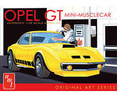 AMT Opel GT Car (White) Plastic Model Car Kit 1/25 Scale #729