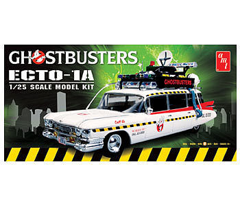AMT/ERTL GHOSTBUSTERS Ecto-1A -- Plastic Model Car Kit -- 1/25 Scale -- #750