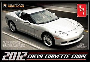 AMT/ERTL 2012 CORVETTE COUPE -- Plastic Model Car Kit -- 1/25 Scale -- #756