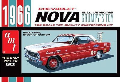 AMT/ERTL 1966 CHEVY NOVA -- Bill Jenkins - Plastic Model Car Kit -- #772