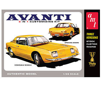 AMT/ERTL 1963 Studebaker Avanti -- Plastic Model Car Kit -- 1/25 Scale -- #780