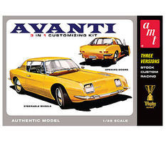 AMT 1963 Studebaker Avanti Plastic Model Car Kit 1/25 Scale #780