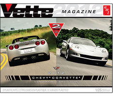 AMT Vette Magazine/2012 Corvette Coupe & Convertible Plastic Model Car Kit 1/25 Scale #786