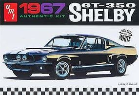 1967 Shelby GT350 Car (White) Plastic Model Car Kit 1/25 Scale #800