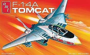 AMT/ERTL F-14A Tomcat Fighter Jet -- Plastic Model Airplane Kit -- 1/72 Scale -- #802