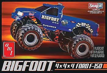 AMT/ERTL Big Foot Ford F150 Monster Truck (Snap) -- Plastic Model Truck Kit -- 1/32 Scale -- #805