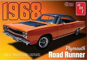 AMT 1968 Plymouth Roadrunner Plastic Model Car Kit 1/25 Scale #821