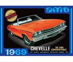 AMT 1969 CHEVELLE CONVERTIBLE Plastic Model Car Truck Vehicle Kit 1/25 Scale #823