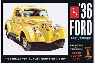 AMT/ERTL 1936 FORD COUPE -- Plastic Model Car Truck Vehicle Kit -- 1/25 Scale -- #824