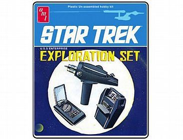 AMT/ERTL STAR TREK EXPLORATION SET -- Science Fiction Plastic Model Kit -- #848
