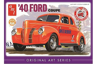 AMT/ERTL 1940 Ford Coupe (Orange) -- Plastic Model Car Truck Vehicle Kit -- 1/25 Scale -- #850