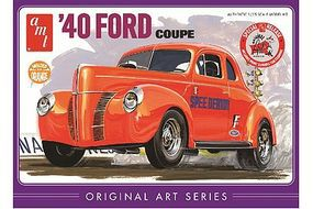 AMT 1940 Ford Coupe (Orange) Plastic Model Car Truck Vehicle Kit 1/25 Scale #850