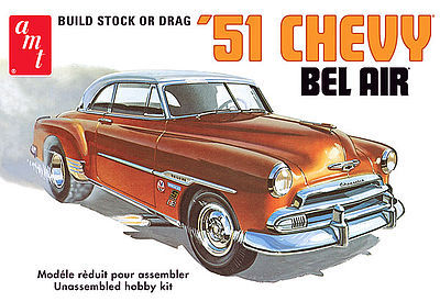 AMT 1951 Chevy Bel Air Plastic Model Car Kit 1/25 Scale #862