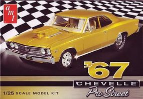AMT 1967 Chevy Chevelle Pro Street Car 1/25 Scale Plastic Model Car Kit #876