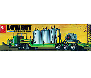 AMT/ERTL Lowboy Trailer -- 1/25 Scale -- Plastic Model Semi Truck Kit -- #880