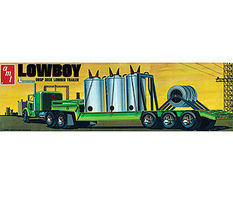 AMT Lowboy Trailer 1/25 Scale Plastic Model Semi Truck Kit #880