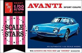 AMT 1963 Studebaker Avanti Sport Coupe 1/32 Scale Plastic Model Car Kit #885