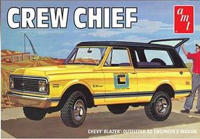 AMT 1/25 1972 Crew Chief Chevy Blazer Plastic Model Truck Kit 1/25 Scale #897
