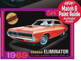 AMT 1/25 1969 Mercury Cougar Eliminator Car (White) Plastic Model Car Kit 1/25 Scale #898