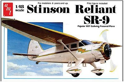 AMT/ERTL Stinson Reliant SR9 Airplane -- Plastic Model Airplane Kit -- 1/48 Scale -- #905