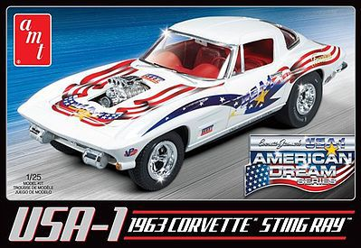 AMT/ERTL 1963 USA-1 Chevy Corvette Car -- Plastic Model Car Kit -- 1/25 Scale -- #909