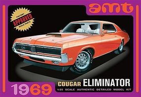 AMT 1/25 1969 Mercury Cougar Eliminator Car (Orange) Plastic Model Car Kit 1/25 Scale #912