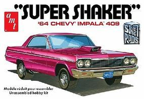 AMT 1964 Chevy Impala 409 Super Shaker Car Plastic Model Car Truck Vehicle 1/25 Scale #917