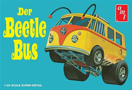 AMT/ERTL Volkswagen Beetle Bus Van Show Rod -- Plastic Model Truck Kit -- 1/25 Scale -- #992