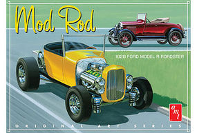 AMT 1929 Ford Model A Roadster (OAS) Mod Rod Plastic Model Car Kit 1/25 Scale #1000-12