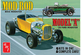 AMT 1929 Ford Model A Roadster Plastic Model Car Kit 1/25 Scale #1002-12