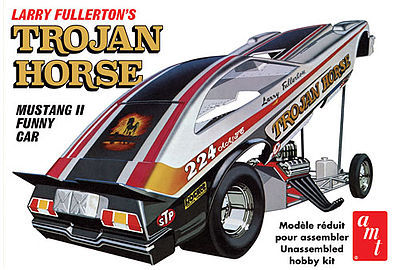 AMT/ERTL Trojan Horse 1975 Mustang Funny Car -- Plastic Model Car Kit -- 1/25 Scale -- #1009-12