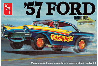 Amt 1957 Ford Hardtop Plastic Model Car Kit 1 25 Scale 1010 12