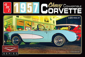 AMT 1957 Corvette Conv Aqua C.Lewis Car Plastic Model Car Kit 1/25 Scale #1016-12