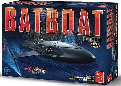 AMT Batman Batboat Plastic Model Vehicle Kit 1/25 Scale #1025-12