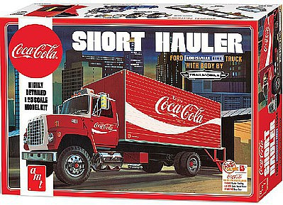 AMT/ERTL Coca Cola 1970 Ford Louisville Short Hauler -- Plastic Model Truck Kit -- 1/25 Scale -- #1048