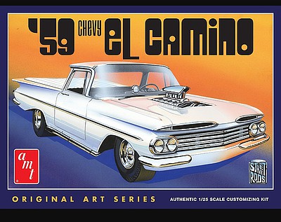 AMT/ERTL 1959 Chevy El Camino Original Art Series -- Plastic Model Car Kit -- 1/25 Scale -- #1058