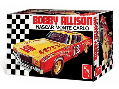 AMT Coca Cola Bobby Allison 1972 Monte Carl Plastic Model Car Kit 1/25 Scale #1064-12