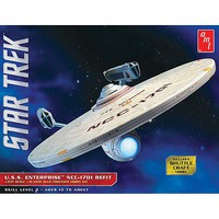 AMT Star Trek USS Enterprise Refit Science Fiction Plastic Model Kit 1/537 Scale #1080-12
