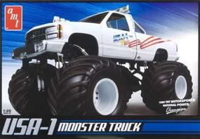 AMT USA-1 Monster Truck Plastic Model Monster Truck Kit 1/25 Scale #632
