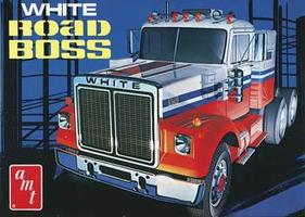 AMT White Road Boss Truck Plastic Model Truck Kit 1/25 Scale #648